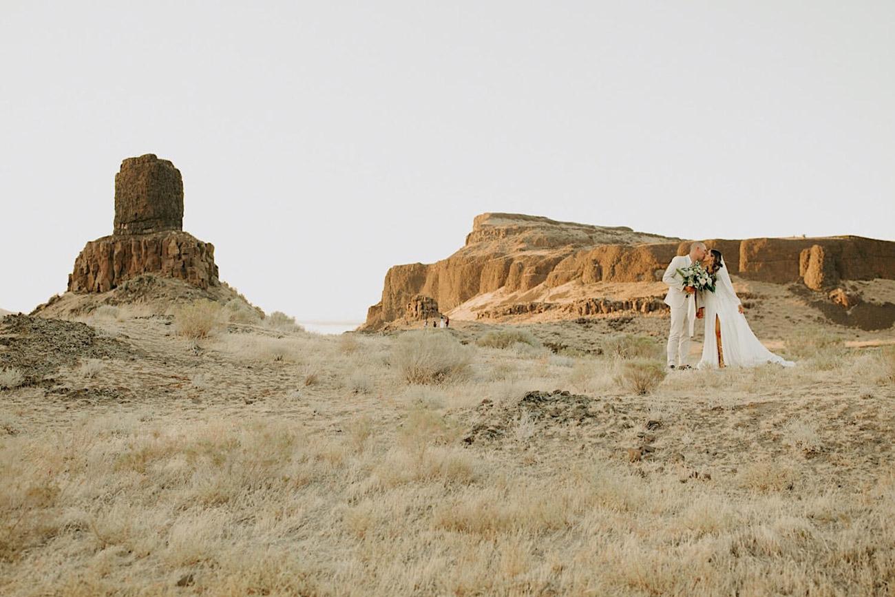 Fern & Moon // Anna & Hayden desert elopement