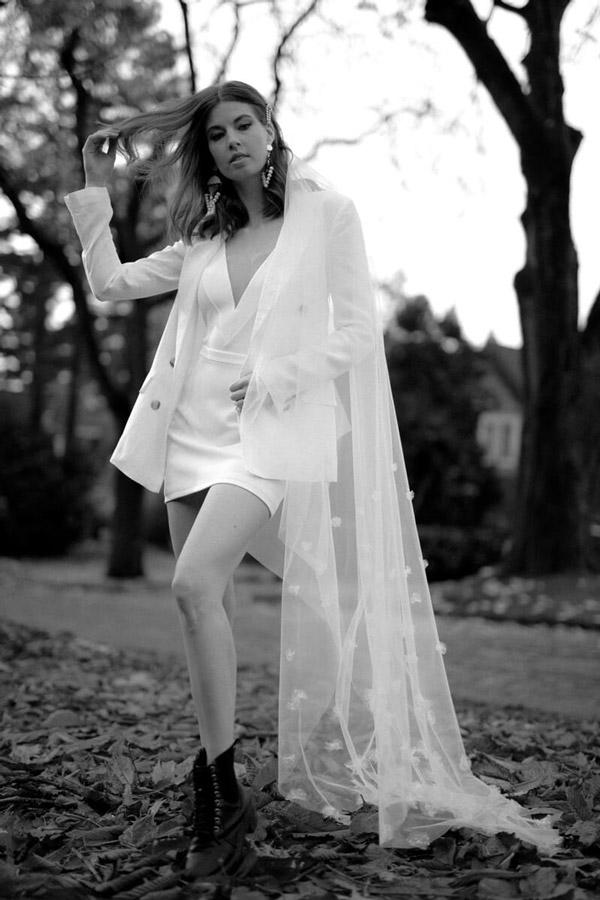Bridal Separates // Rowen Bodysuit & Portia Mini Skirt